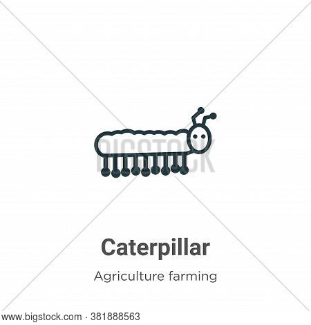 Caterpillar Icon From Agriculture Farming And Gardening Collection Isolated On White Background.