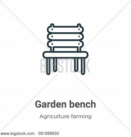 Garden bench icon isolated on white background from agriculture farming and gardening collection. Ga