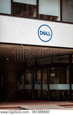 Dell Computer Corporation Logo On Outside Signage Board.