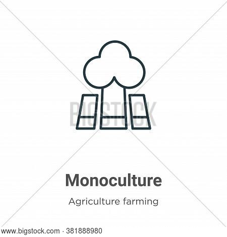 Monoculture icon isolated on white background from agriculture farming and gardening collection. Mon