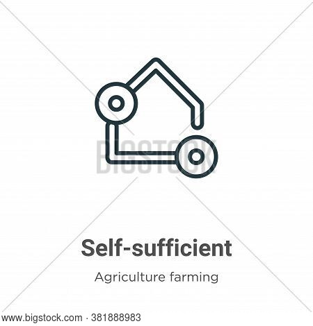 Self-sufficient icon isolated on white background from agriculture farming and gardening collection.
