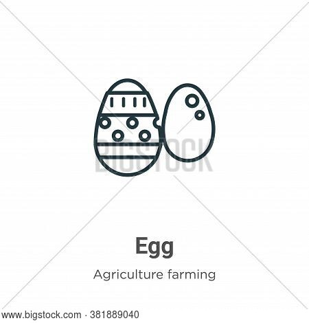 Egg icon isolated on white background from agriculture collection. Egg icon trendy and modern Egg sy