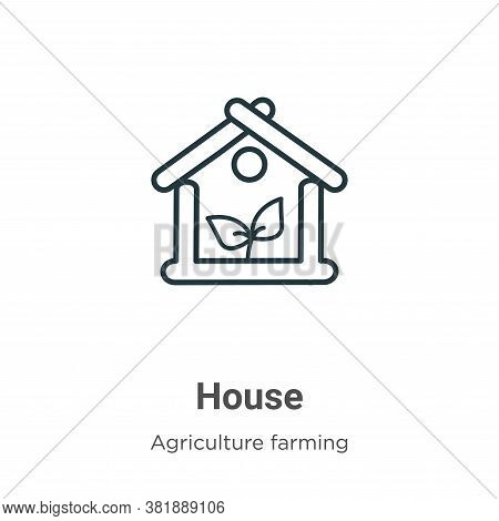Greenhouse icon isolated on white background from farming and gardening collection. Greenhouse icon