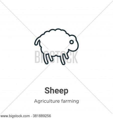 Sheep icon isolated on white background from farming collection. Sheep icon trendy and modern Sheep