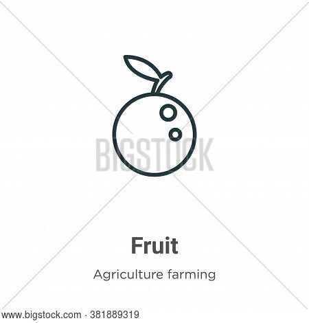 Fruit icon isolated on white background from farming collection. Fruit icon trendy and modern Fruit