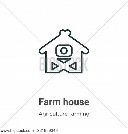 Farm house icon isolated on white background from farming collection. Farm house icon trendy and mod