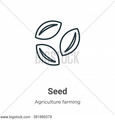 Seed icon isolated on white background from farming collection. Seed icon trendy and modern Seed sym