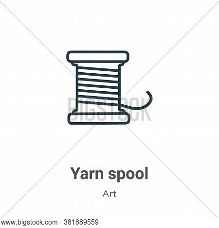Yarn spool icon isolated on white background from art collection. Yarn spool icon trendy and modern