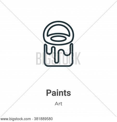 Paints icon isolated on white background from art collection. Paints icon trendy and modern Paints s