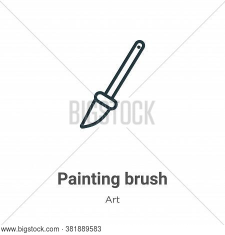 Painting brush icon isolated on white background from art collection. Painting brush icon trendy and