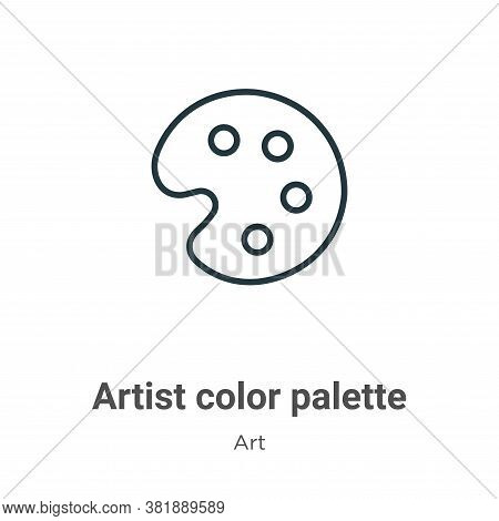 Artist color palette icon isolated on white background from art collection. Artist color palette ico