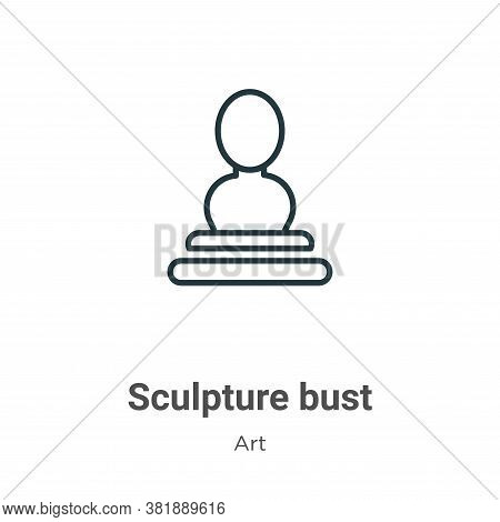 Sculpture bust icon isolated on white background from art collection. Sculpture bust icon trendy and