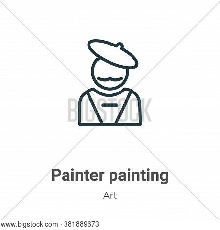 Painter painting icon isolated on white background from art collection. Painter painting icon trendy