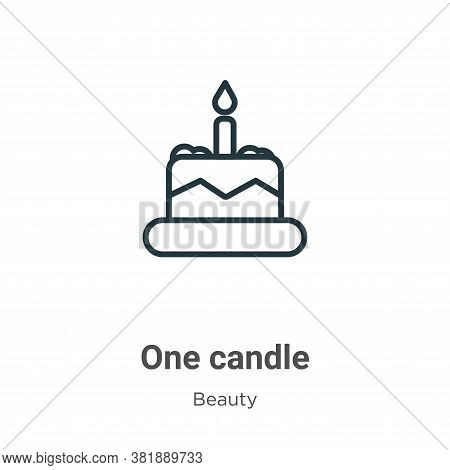 One candle icon isolated on white background from beauty collection. One candle icon trendy and mode