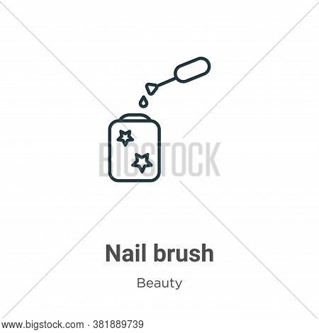 Nail brush icon isolated on white background from beauty collection. Nail brush icon trendy and mode