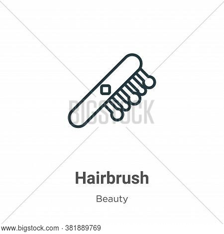 Hairbrush icon isolated on white background from beauty collection. Hairbrush icon trendy and modern