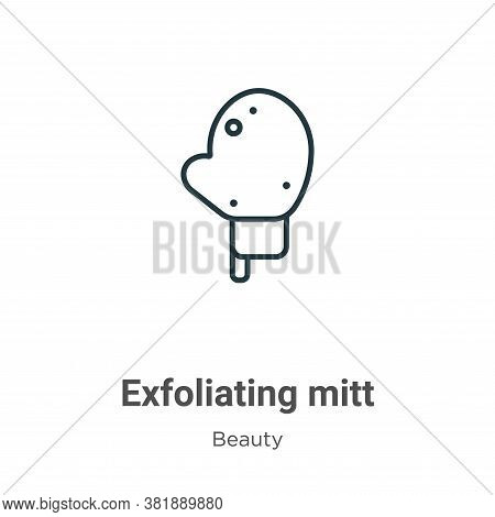 Exfoliating mitt icon isolated on white background from beauty collection. Exfoliating mitt icon tre
