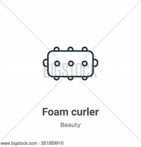 Foam curler icon isolated on white background from beauty collection. Foam curler icon trendy and mo