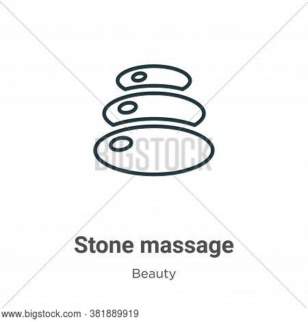 Stone massage icon isolated on white background from beauty collection. Stone massage icon trendy an