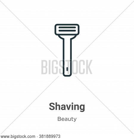 Shaving icon isolated on white background from beauty collection. Shaving icon trendy and modern Sha