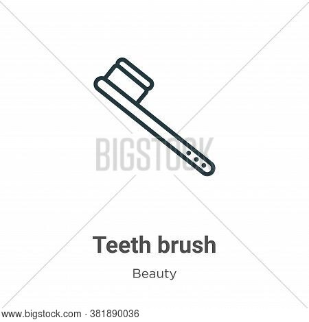 Teeth brush icon isolated on white background from beauty collection. Teeth brush icon trendy and mo