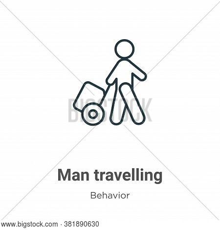 Man travelling icon isolated on white background from behavior collection. Man travelling icon trend
