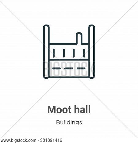 Moot hall icon isolated on white background from buildings collection. Moot hall icon trendy and mod