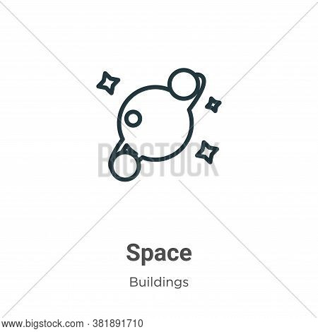 Space icon isolated on white background from buildings collection. Space icon trendy and modern Spac
