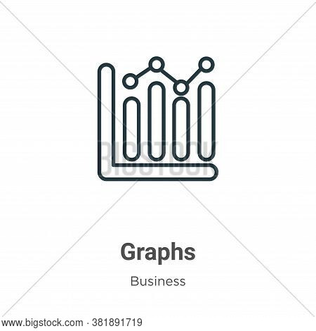 Graphs icon isolated on white background from business collection. Graphs icon trendy and modern Gra