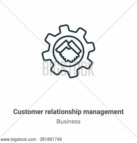 Customer relationship management icon isolated on white background from business collection. Custome