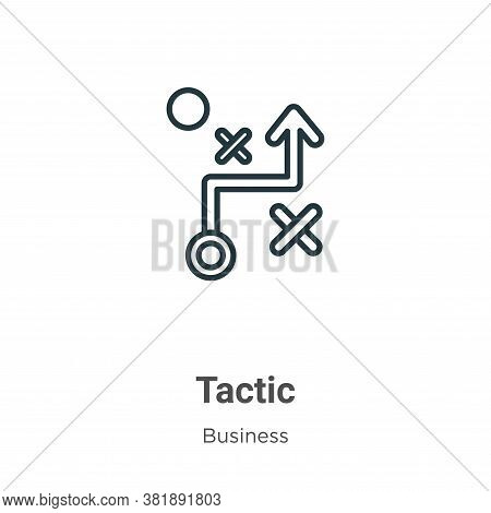 Tactic icon isolated on white background from business collection. Tactic icon trendy and modern Tac