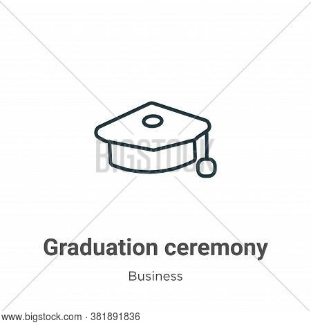 Graduation ceremony icon isolated on white background from business collection. Graduation ceremony