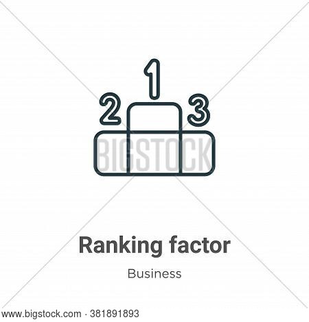 Ranking Factor Icon From Business Collection Isolated On White Background.