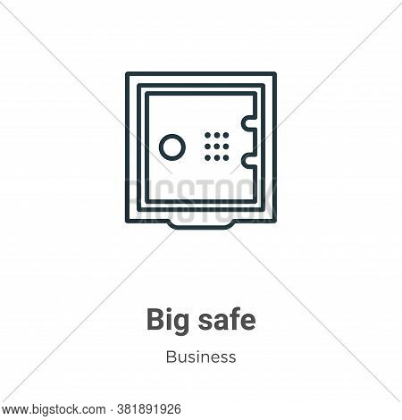 Big safe icon isolated on white background from business collection. Big safe icon trendy and modern