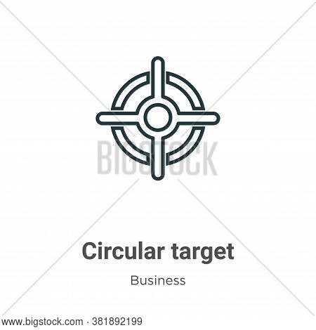 Circular target icon isolated on white background from business collection. Circular target icon tre