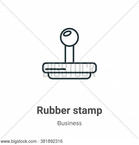 Rubber stamp icon isolated on white background from business collection. Rubber stamp icon trendy an