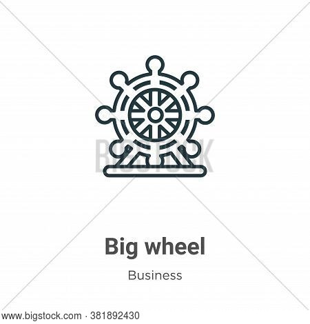 Big wheel icon isolated on white background from business collection. Big wheel icon trendy and mode