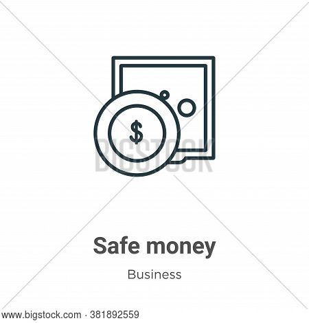 Safe money icon isolated on white background from business collection. Safe money icon trendy and mo