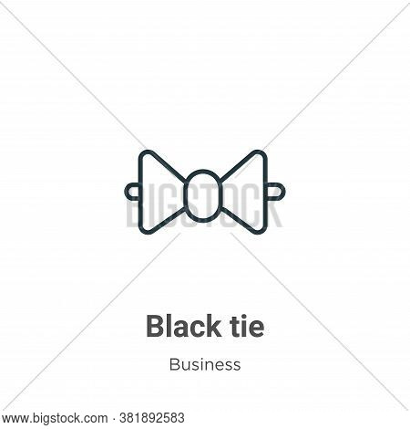 Black tie icon isolated on white background from business collection. Black tie icon trendy and mode