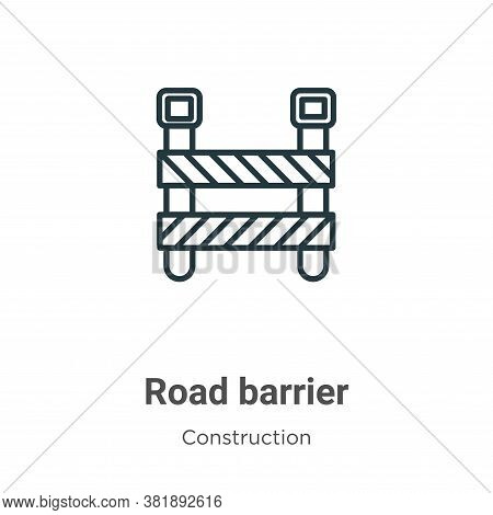 Road barrier icon isolated on white background from construction collection. Road barrier icon trend