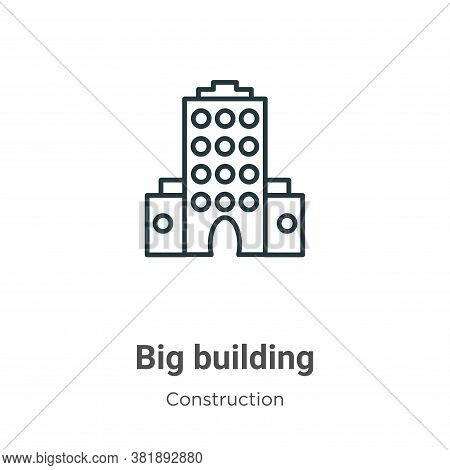 Big building icon isolated on white background from construction collection. Big building icon trend