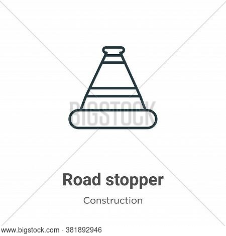 Road stopper icon isolated on white background from construction collection. Road stopper icon trend
