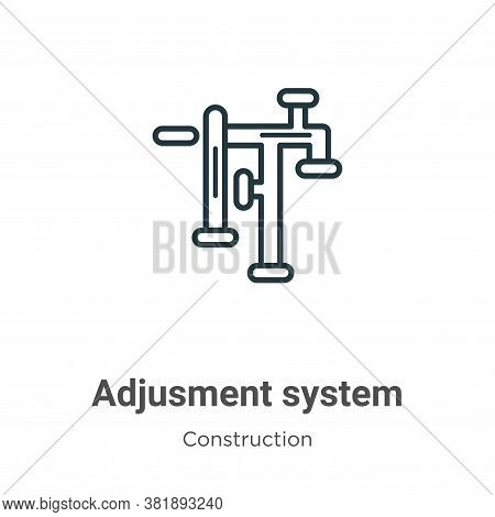 Adjusment system icon isolated on white background from construction collection. Adjusment system ic