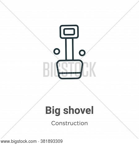 Big shovel icon isolated on white background from construction collection. Big shovel icon trendy an