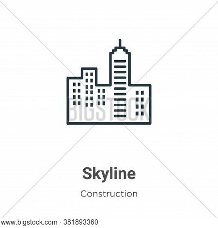 Skyline icon isolated on white background from construction collection. Skyline icon trendy and mode