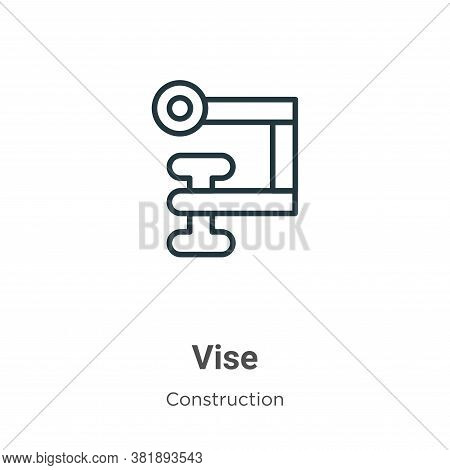 Vise Icon From Construction Collection Isolated On White Background.