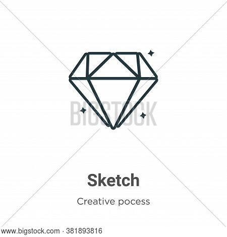 Sketch icon isolated on white background from creative pocess collection. Sketch icon trendy and mod