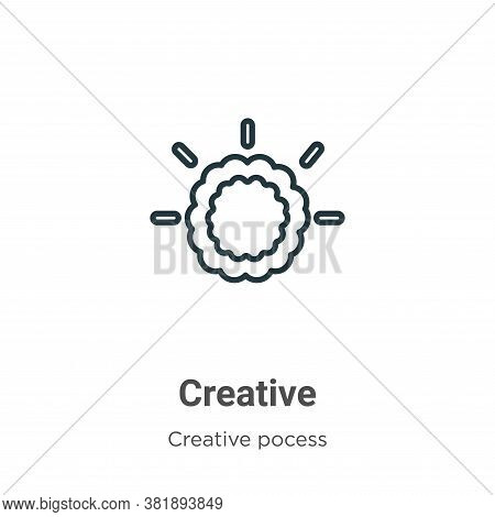 Creative icon isolated on white background from creative pocess collection. Creative icon trendy and