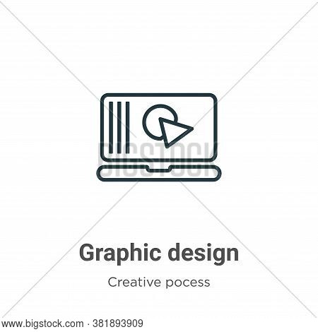 Graphic design icon isolated on white background from creative pocess collection. Graphic design ico