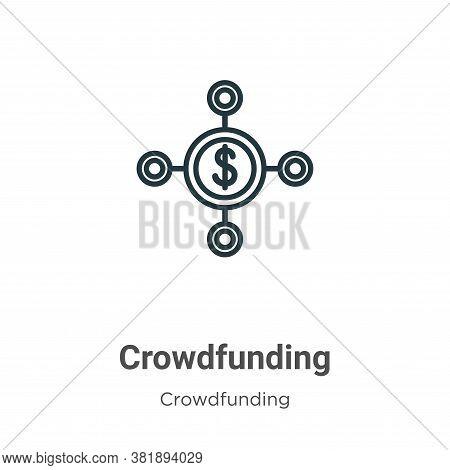 Crowdfunding icon isolated on white background from crowdfunding collection. Crowdfunding icon trend